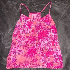 Lilly Pulitzer Silk Adjustable Tank Top